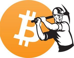 A Bitcoin miner.