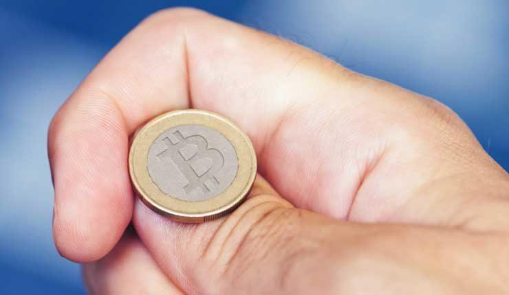 Physical bitcoin coin flip